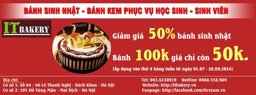 Bánh sinh nhật thứ 4 tại ITCREAM giảm tới 50%