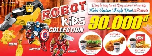 Khuyến mãi Lotteria ROBOT KIDS COLLECTION