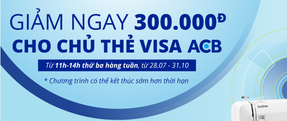 Giarm 300k cho chủ thẻ Visa ACB