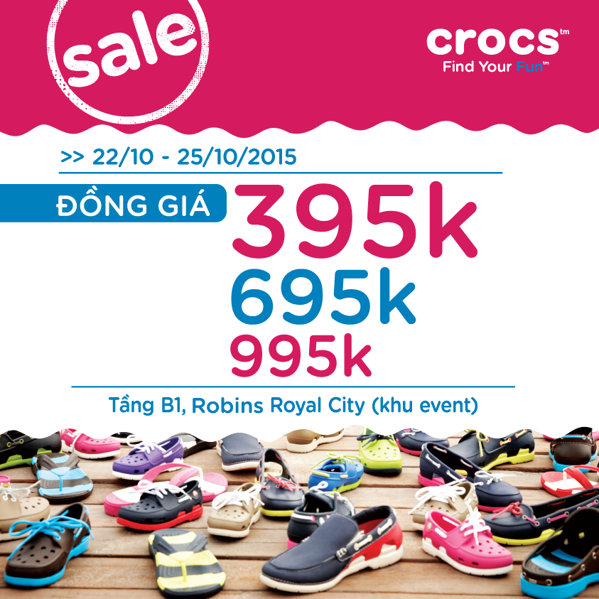 Crocs-Robins-Royal-City-ưu-đãi-đồng-giá-tất-cả-sản-phẩm-từ-395k