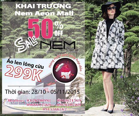 Nem-Aeon-Mall-khai trương-Khuyen-mai-50-toan-bo-san-pham