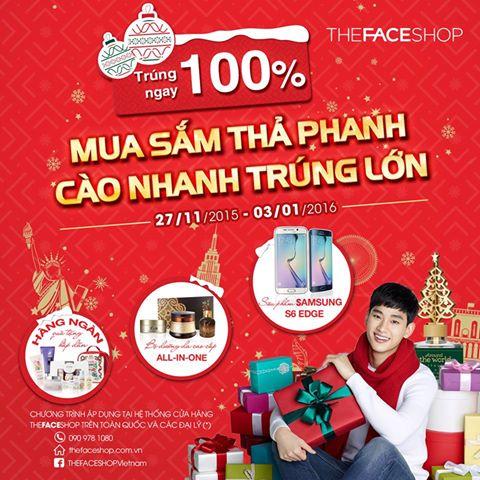 The Face Shop khuyến mại mua sắm thả phanh cào nhanh trúng lớn