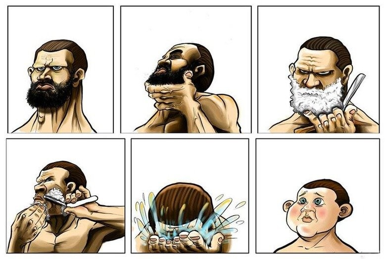 before-after-shaving