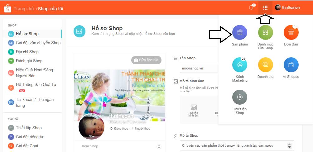 Cách đăng sale trên shopee