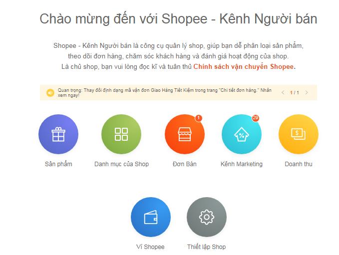 Chính sách chuyển phát vận chuyển khi bán hàng trên Shopee