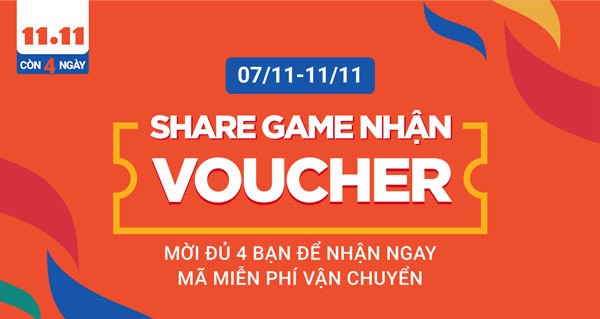 Share game nhận mã miễn phí vận chuyển Shopee