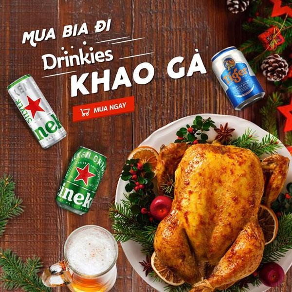 drinkies khuyến mãi - mua bia tặng gà