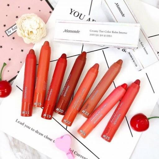 Reviews bảng màu son bút chì Mamonde? Màu son nào đẹp nhất?
