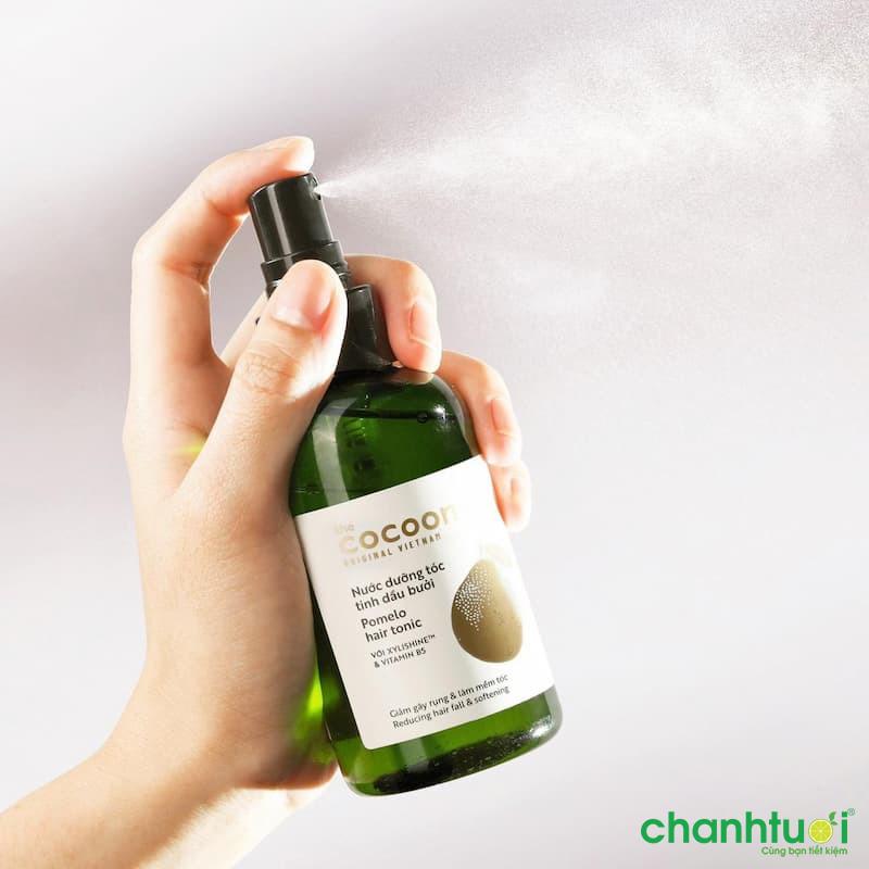 Review nước dưỡng tóc tinh dầu bưởi Cocoon Pomelo Hair Tonic có tốt không?
