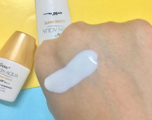 Reviews kem chống nắng skin aqua clear white? Đối tượng sử dụng như nào?